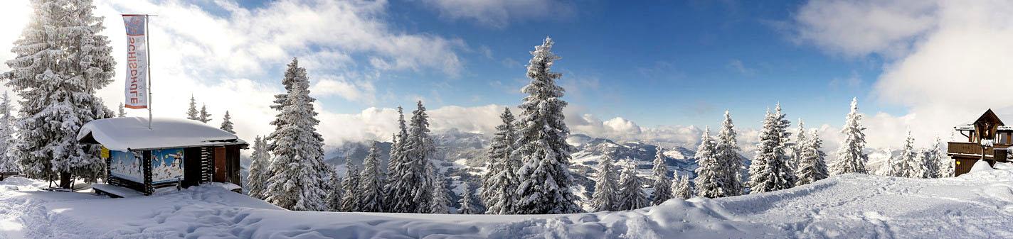 Aussicht von der Westendorf Skiwelt am Wilder Kaiser, Brixental