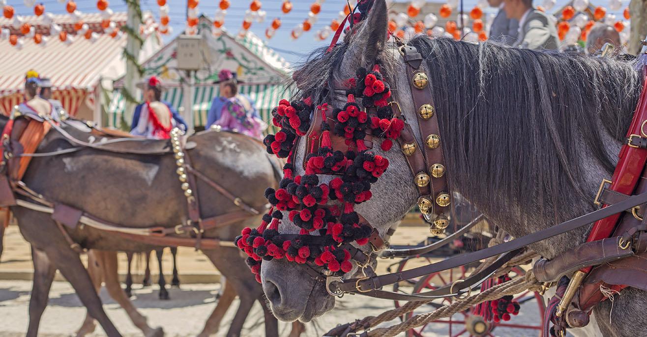 Rosario-Volksfest in Malaga