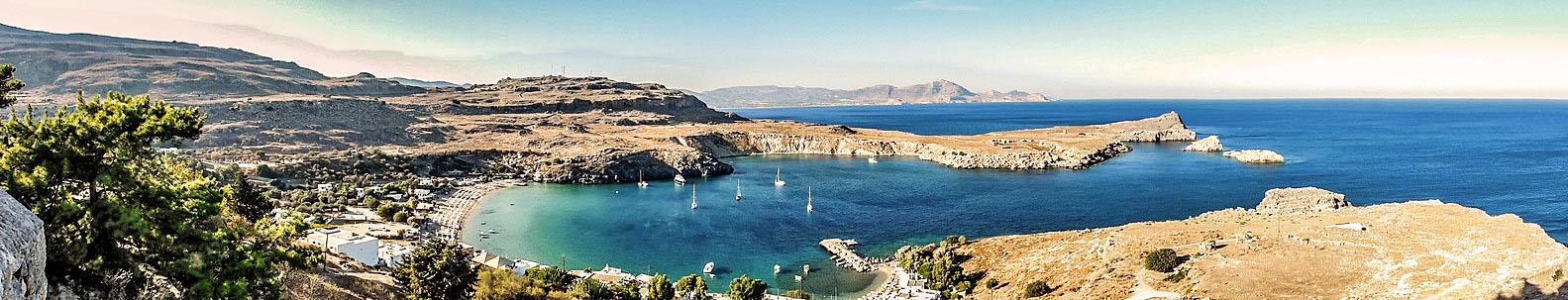Die Bucht von Lindos auf Rhodos