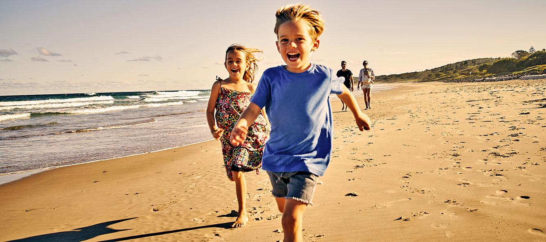 Strandurlaub zu viert.