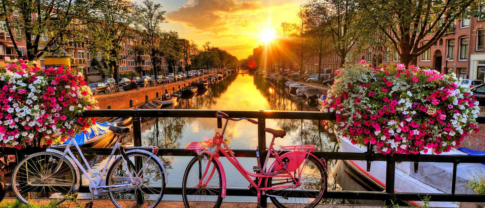 Amsterdammer Krachten im Morgenlicht.
