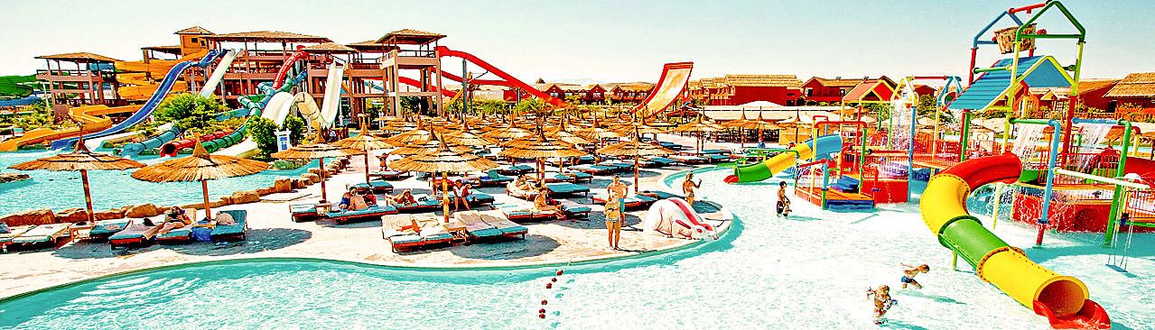 Attraktionen für Groß und Klein im Aqua Jungle Park in Hurghada