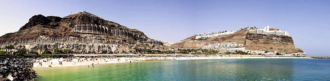 Beliebter Strand: Die Playa de Amadores auf Gran Canaria