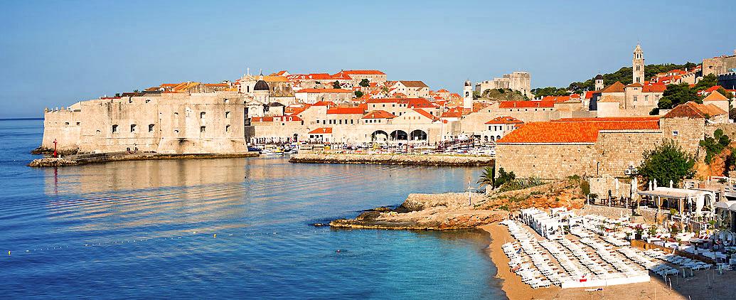 Der Stadtstrand von Dubrovnik