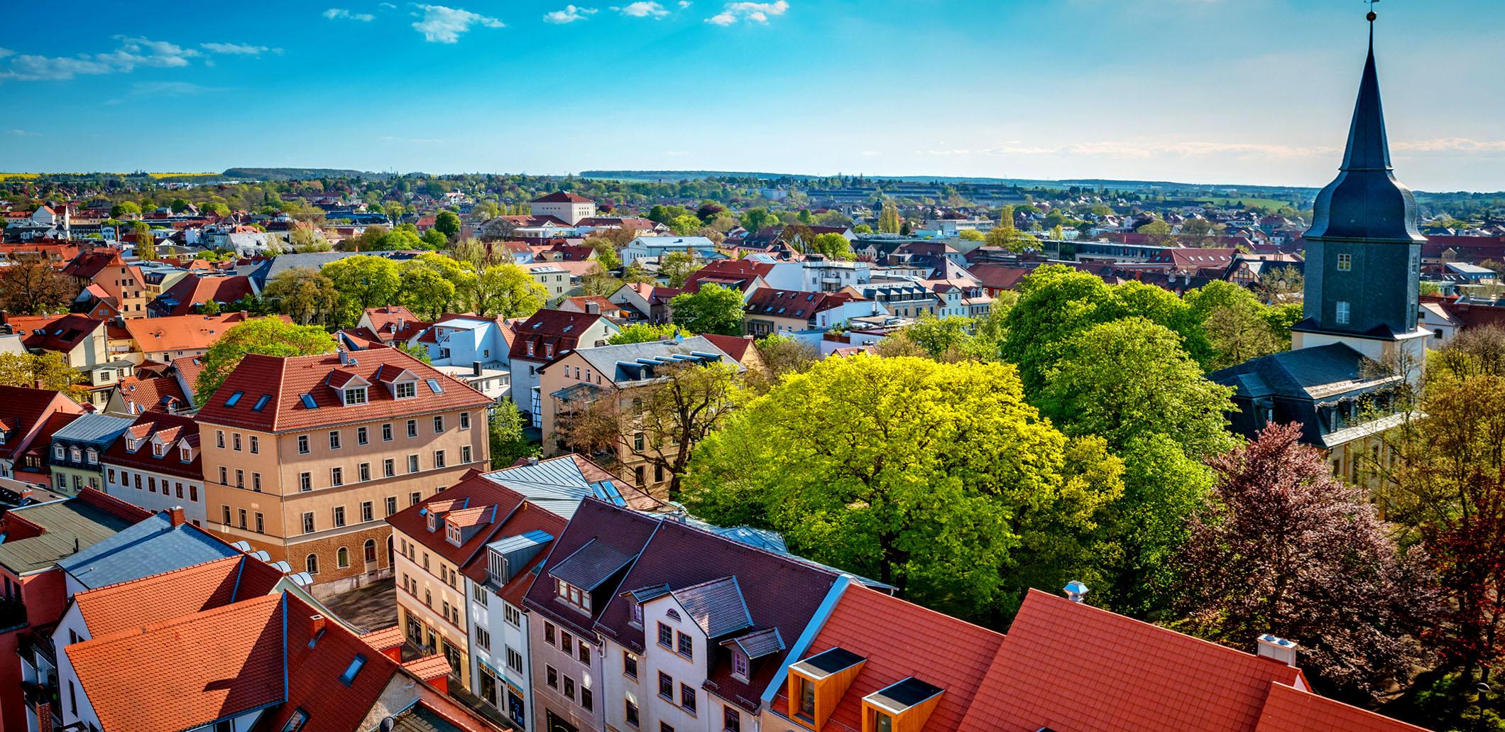 Panoramablick über Weimar