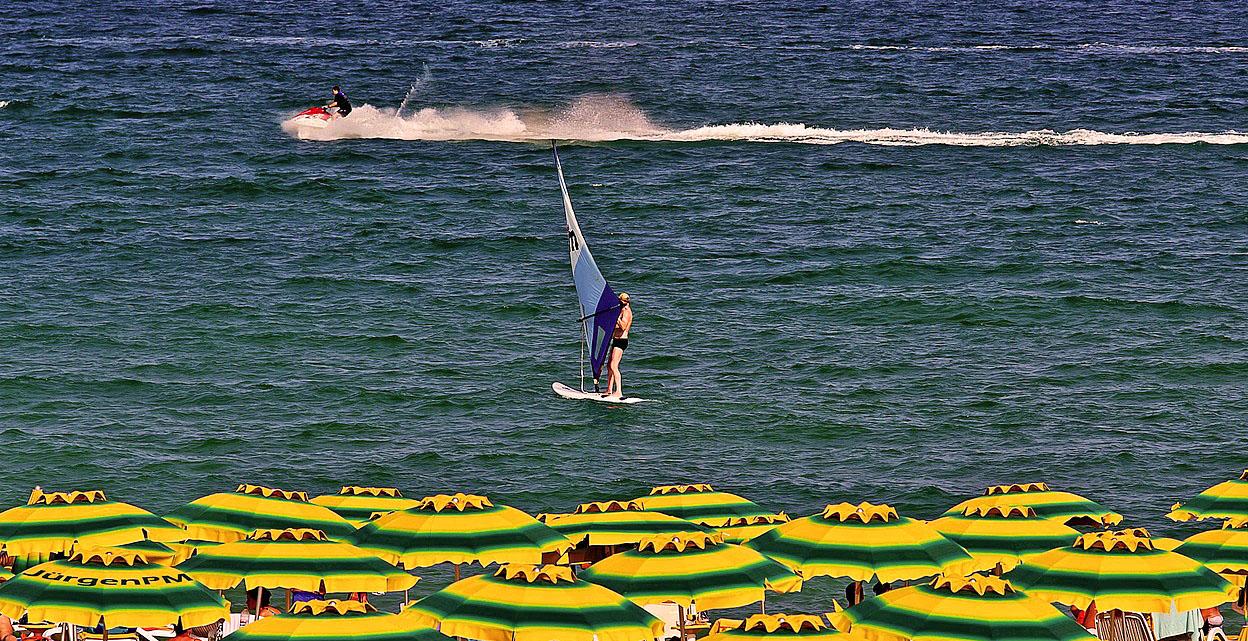 Wassersport am Goldstrand