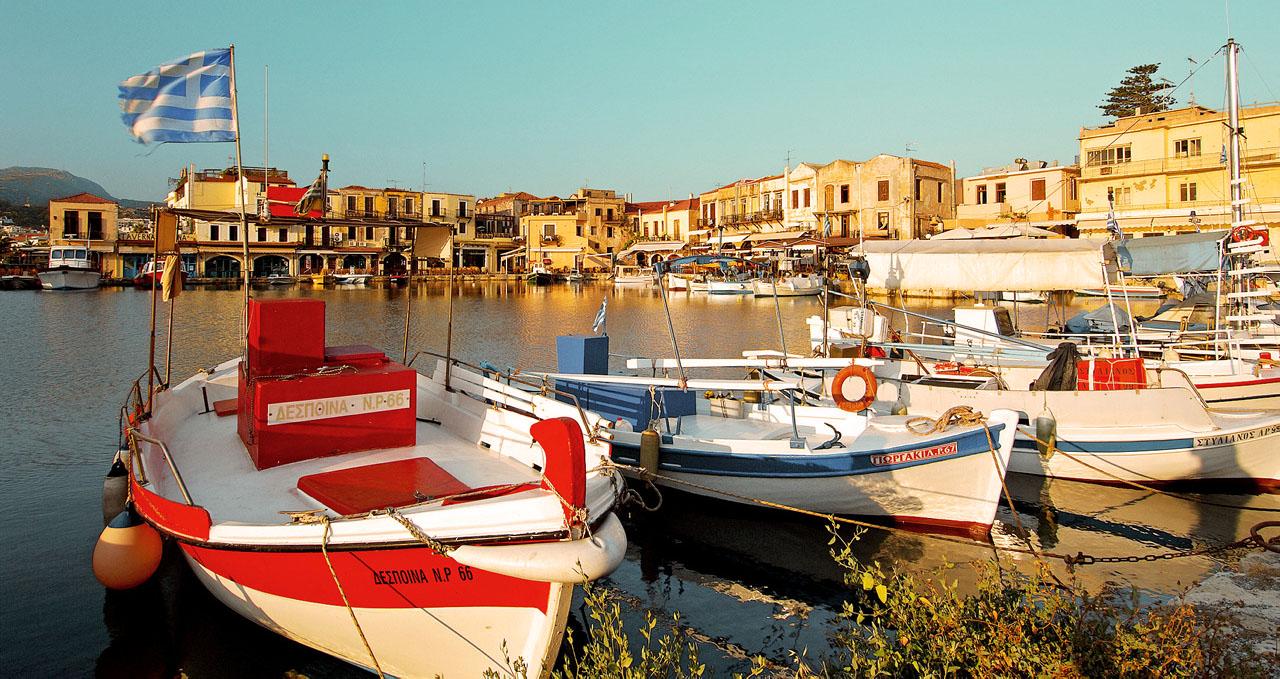 Blick auf die Altstadt von Rethymno.