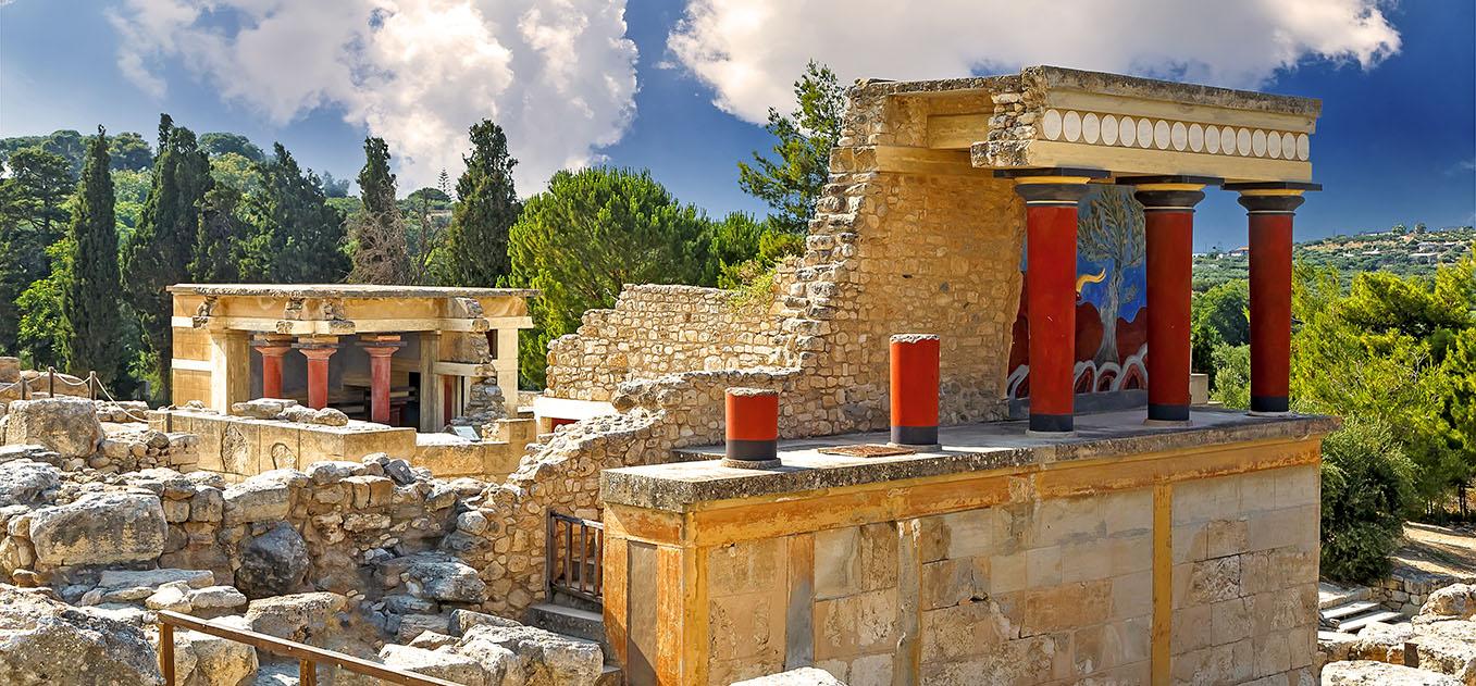 Der Palast von Knossos in Heraklion.