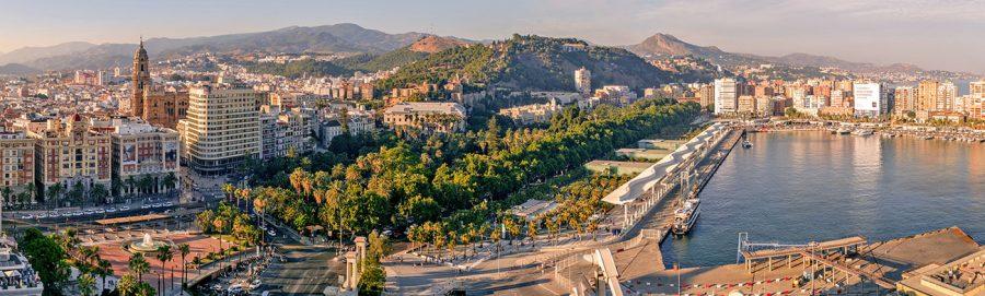 Panoramablick über Malaga