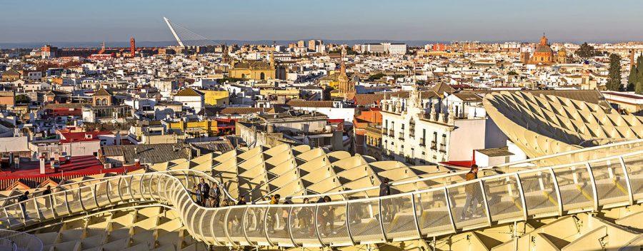 Panoramablick über Sevilla vom Metropol Parasol