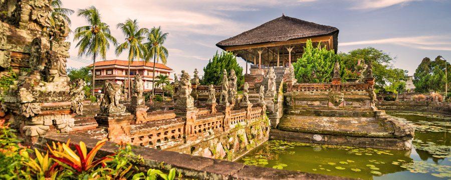The Klungkung Palace in Semarapura auf Bali