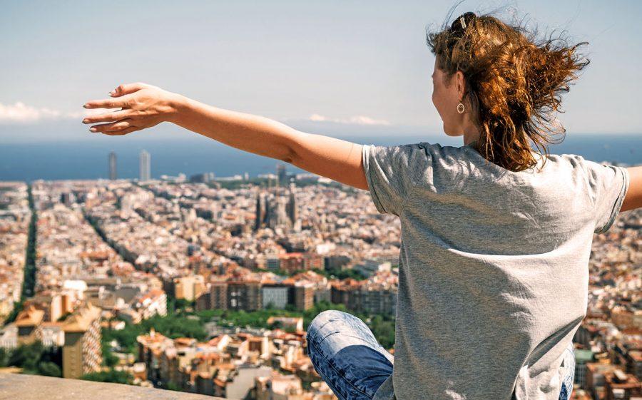 genieße Deine Freiheit über den Dächern Barcelonas
