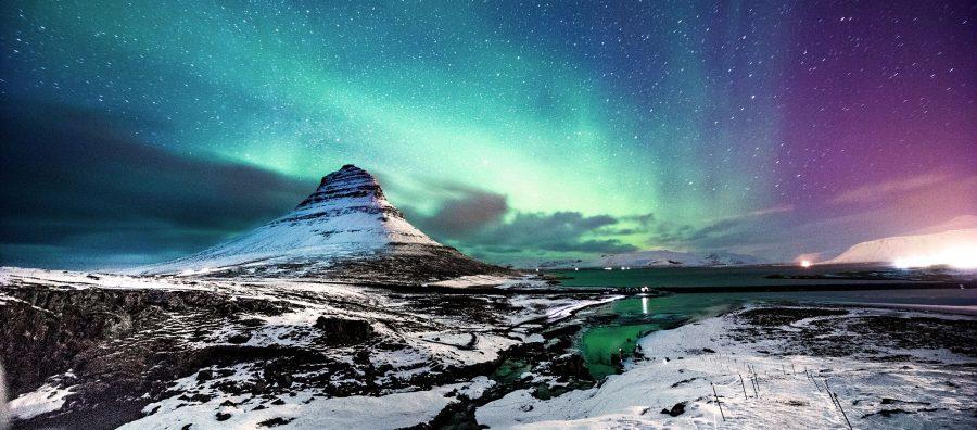 """Faszination Nordlichter am """"Mount Kirkjufell"""" in Island"""